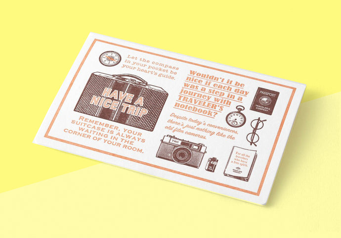 TRAVELER'S COMPANY – Limited Edition Letterpress Card - Brown