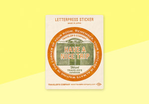 TRAVELER'S COMPANY – Limited Edition Letterpress Sticker - Red