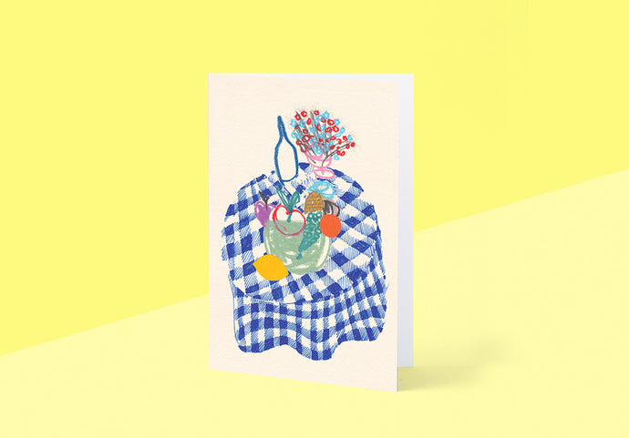 Wrap - Greetings card - Table