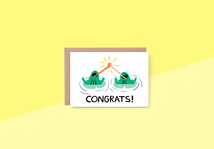 Wrap - Greeting card - Congrats Frogs