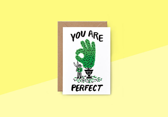 Wrap - Greeting card - You are perfect