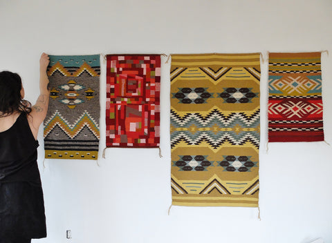 Natalie Novak and woven pieces