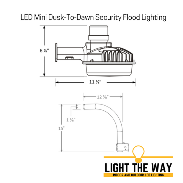 Premium MINI LED Dusk-To-Dawn Security Flood Light