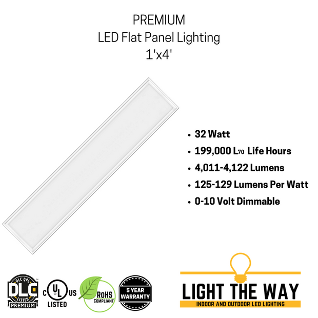 Premium 1x4 LED Flat Panel Lighting