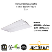 Premium LED Low Profile Center Basket Fixtures