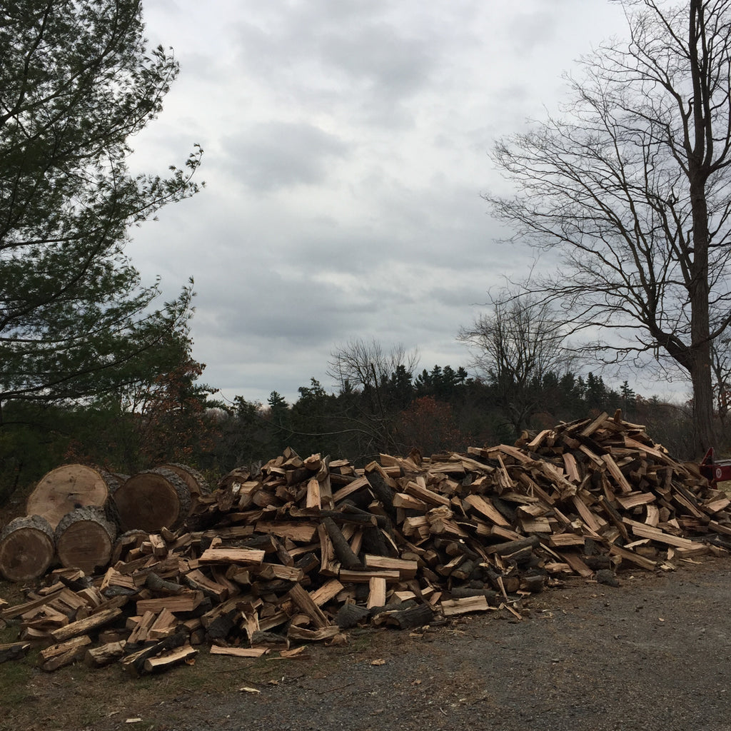Large Stack of Chopped Firewood