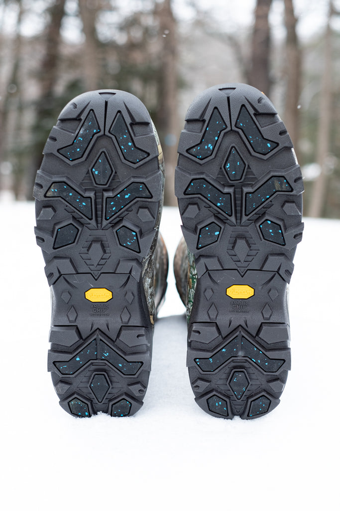 muck boots outsole features Vibram Arctic Grip with Icetrek