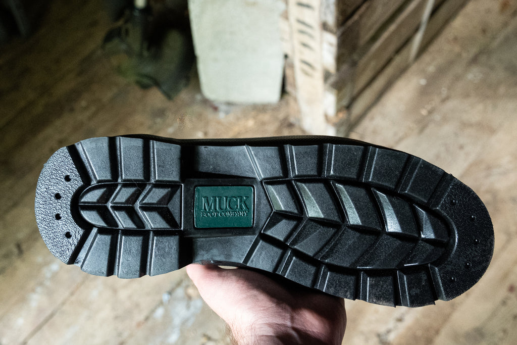 muck boot company durable traction rubber sole