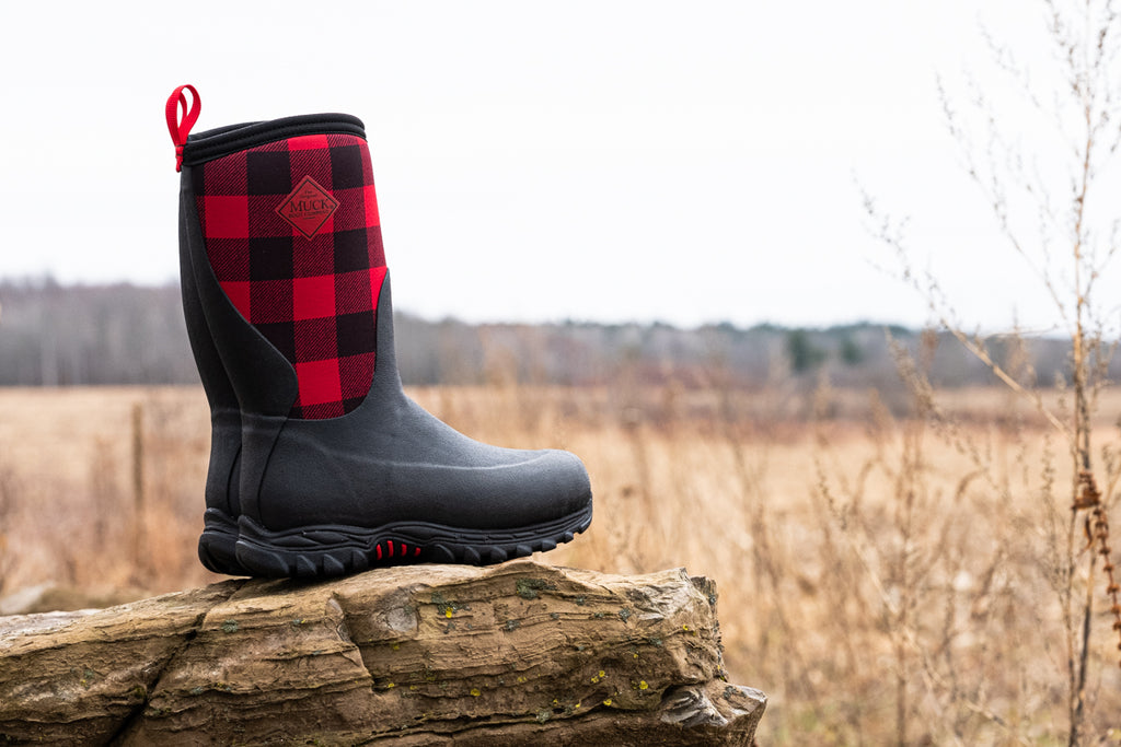 Muck Boot Company kids buffalo plaid winter boots