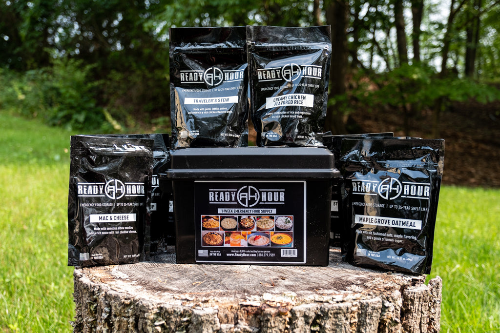 buy ready hour emergency preparedness or camping food supply made in USA