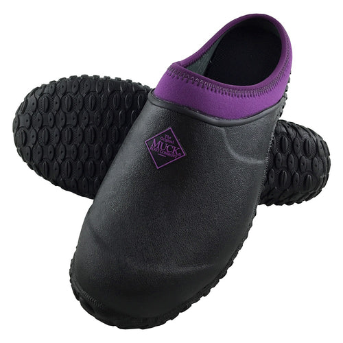 Muckster II Slip-On Clog Muck® Shoes - Black/Purple