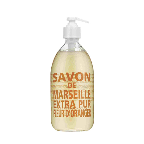 Liquid Soap Extra Pur Orange Blossom 16.9 fl.oz./500ml Glass Bottle