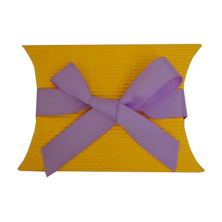 Medium Kraft Pillow Signature Box Sunflower Yellow