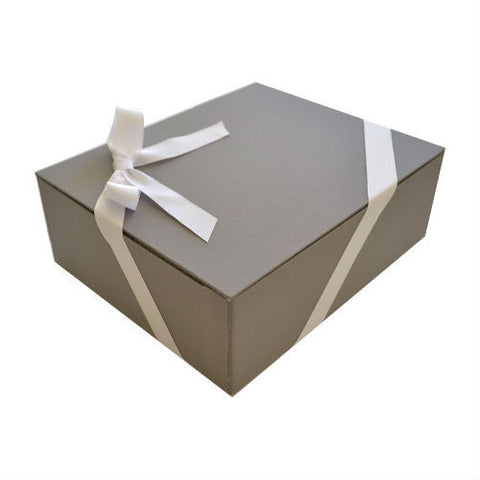 Luxe Signature Box with White Grosgrain ribbon