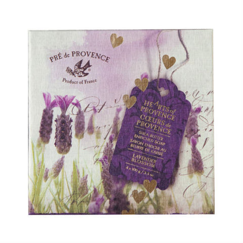 Hearts of Provence Soaps Lavender 4x3.5oz./4x100g