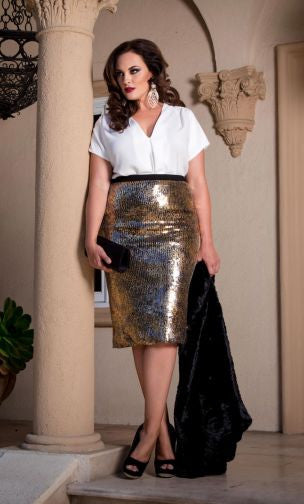 Baroque Sequin Skirt