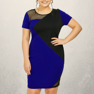 Electric Blue and Mesh Bodycon Dress - Fierce by Artavia