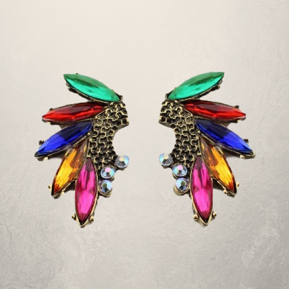 Gem Decorated Alloy Earrings