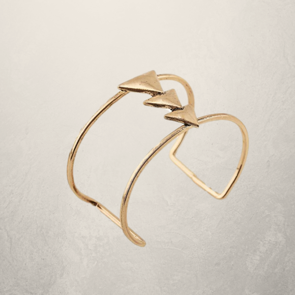 Two Layered Triangle Cuff Bracelet