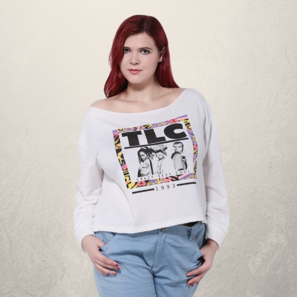 TLC Graphic Long Sleeve Crop Top - Fierce by Artavia