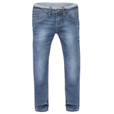 Reversed Denim Waistband Skinny Jeans