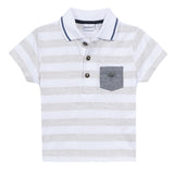 HEATHER STRIPE DRESSY POLO