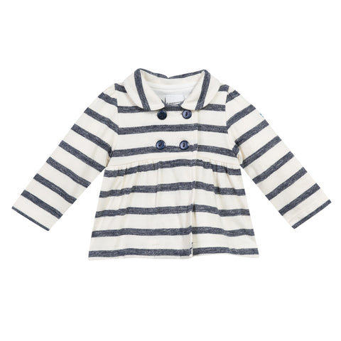 NAUTICAL STRIP EMPIRE CARDIGAN