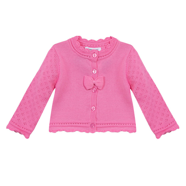 POINTELLE BOW CARDIGAN
