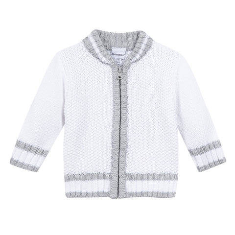 TENNIS ZIP COTTON CARDIGAN