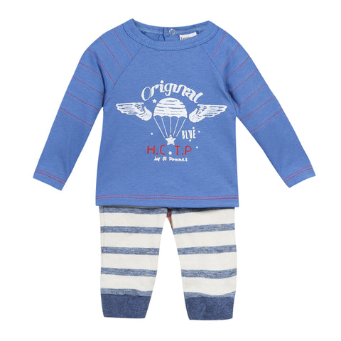 CAPTAIN BLUE TOP + PANTS 2PC