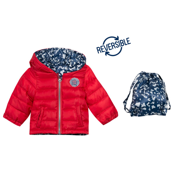 REVERSIBLE QUILTED PRINT JKT