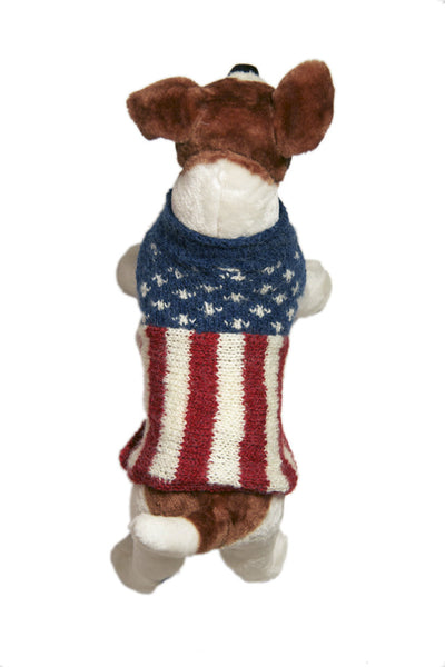Knit Flag Dog Sweater
