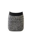 Smocked Sequin Mini Skirt