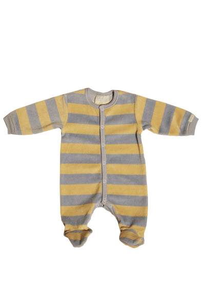 Velour Stripe Footie