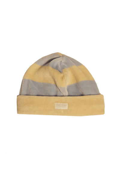 Velour Stripe Baby Cap