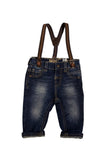 Stretchy Denim Suspender Jeans