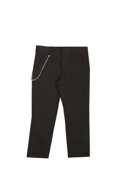Brushed Cotton Skinny Pant with Removable Chain