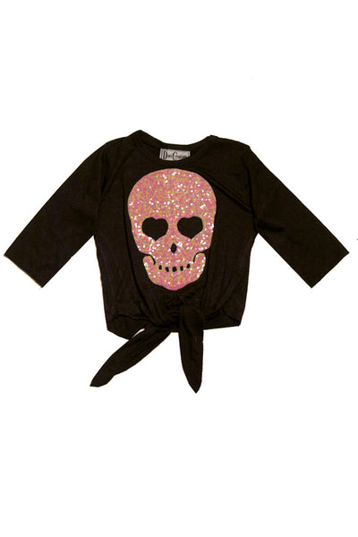 Skull Applique Tie-Top