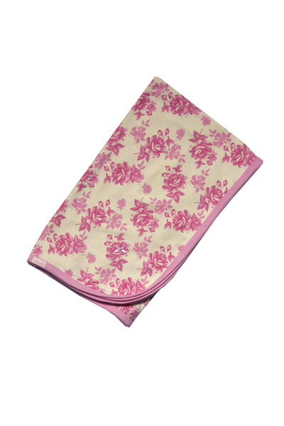 Floral Print Receiving Blanket