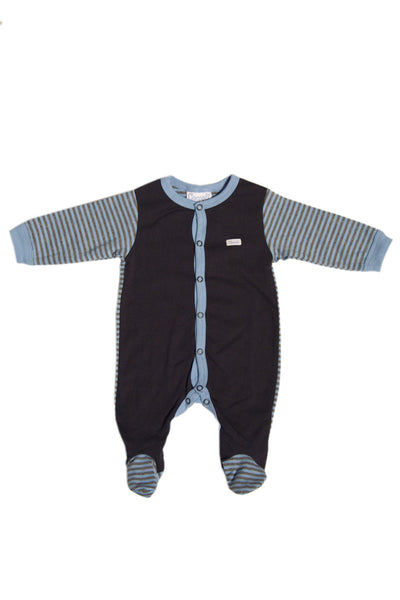 Stripe Snap Footie