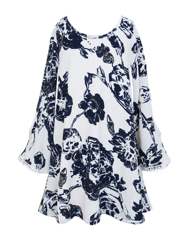 Floral Print Fowey A-Line Dress