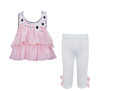 Tiered Daisy Top & Capri Set.