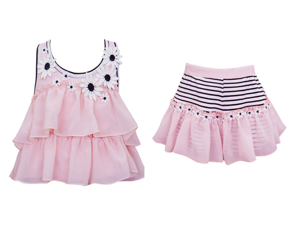 Tiered Daisy Top & Matching Skort