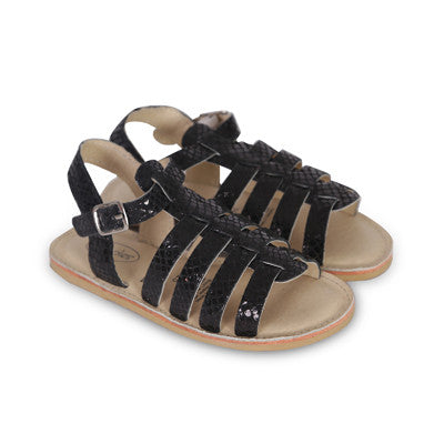 Textured Leather Safari Gladiator Sandal