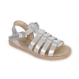 Metallic Leather Safari Gladiator Sandal