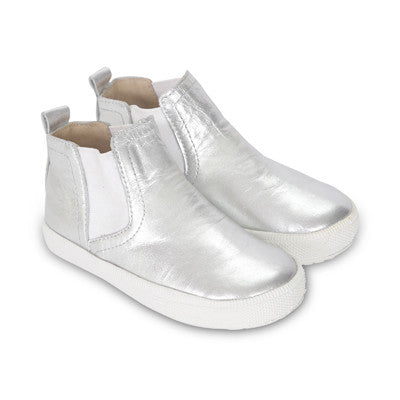 Metallic Leather Hightop Slip-On Shoe