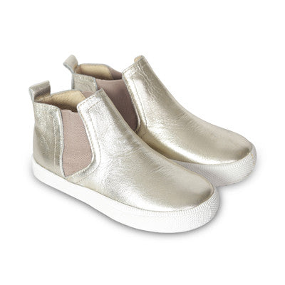 Metallic Leather Slip On Shoe