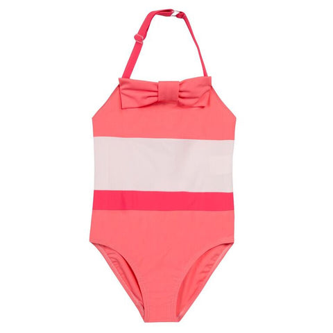 RETRO BOW TRICOLOR 1PC SWIMSUIT