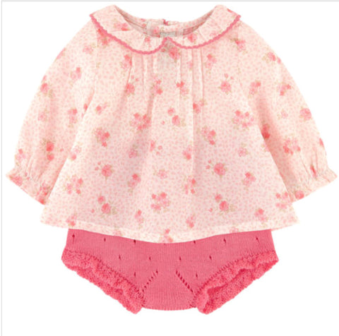 Liberty Flowers Blouse & Diaper Cover