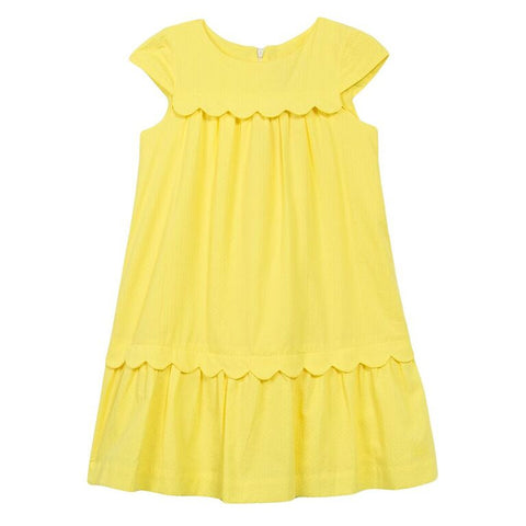 PIQUE SCALLOPED SUNDRESS
